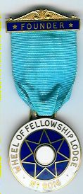 TH451-9016 Founders Jewel Wheel of Fellowship Lodge No. 9016-0