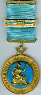 TH546 Britannia Lodge No. 139 Pre-regulation Centenary Jewel-0