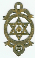 TH608b Gold Royal Arch Chapter member's jewel-0