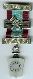TH713 The Mark Member's jewel with M&C and pierced central bar.-0