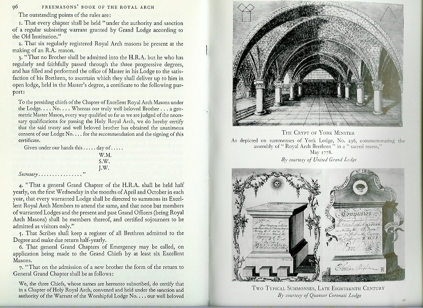 FREEMASONS BOOK OF THE ROYAL ARCH by BERNARD E. JONES-0