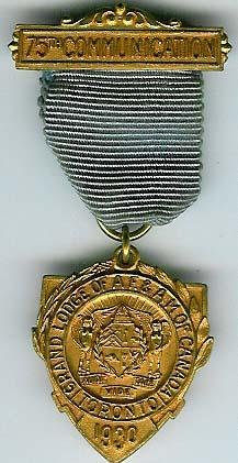 Canada 75th Anniversary of the Grand Lodge of Canada-0