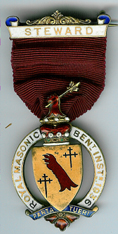 TH281 Royal Masonic Benevolent Institution 1936 Stewards jewel-0
