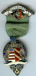 TH276 Royal Masonic Institution for Boys 1919 Stewards jewel-0