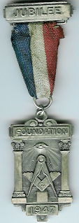 The Honourable Fraternity of Antient Freemasons Jubilee medal-0