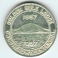Canada 1957 The Golden Rule Lodge No. 5 Quebec Centenary medal-0