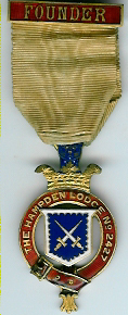 TH451-2427 The Hampden Lodge No. 2427 Founders Jewel. Victorian.-0
