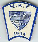 TH720 The Mark Benevolent Fund 1944 wartime cardboard stewards jewel.-0