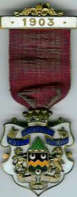 TH281 Royal Masonic Benevolent Institution 1903 Stewards jewel. -0