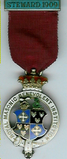 TH281 Royal Masonic Benevolent Institution 1909 Stewards jewel. -0
