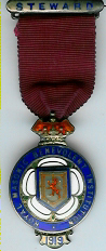 TH281 Royal Masonic Benevolent Institution 1919 Stewards jewel. -0