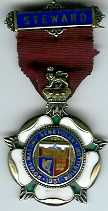 TH281 Royal Masonic Benevolent Institution 1931 Stewards jewel. -0