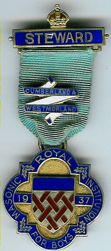 TH276 Royal Masonic Institution for Boys 1937 Stewards jewel.-0