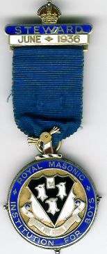 TH276 Royal Masonic Institution for Boys 1936 Stewards jewel.-0