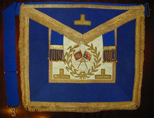 Past Assistant Grand Standard Bearers Craft Dress Lambskin Apron-0