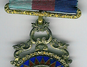 TH605 The Victorian Crimson and Blue Royal Arch Watchcase Member's jewel-0