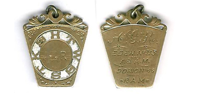 USA 1860c. A rare 10ct gold Members Jewel for Eden Lodge No. 113. -0
