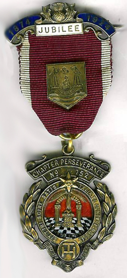 TH621-152SC Chapter of Perseverance No. 152. A hallmarked silver 1924 50th jubilee jewel.-0