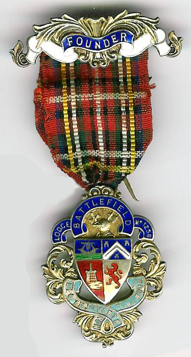 TH451-1258SC Lodge Battlefield No. 1258 silver Founders Jewel.-0