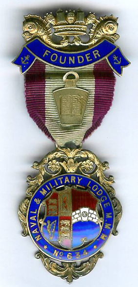 TH716-0634 Founders jewel for Naval and Military Mark Lodge No. 634-0