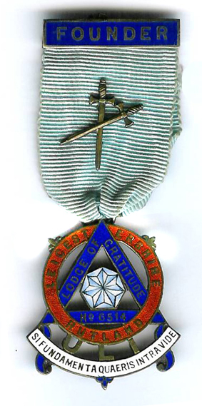TH451-6514 Lodge of Gratitude Founders Jewel in H/M silver-gilt-0