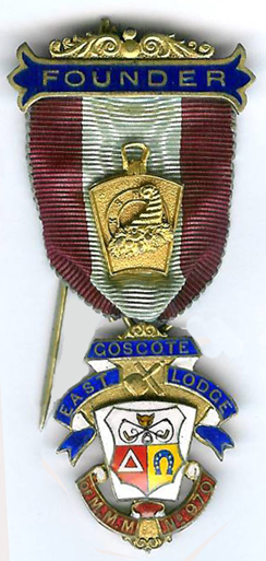 TH716-0970s Goscote East Mark Lodge No. 970 Founders Stewards Jewel-0