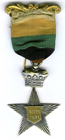 TH276 Royal Masonic Institution for Boys 1881 Stewards jewel.-0