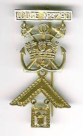 TH455-3790 Past Masters jewel Royal Naval Anti-Aircraft Lodge No.3790-0