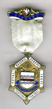 TH281 Royal Masonic Benevolent Institution 1933 special Stewards jewel-0