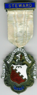 TH271 Royal Masonic Institution for Girls 1899 Stewards Jewel.-0