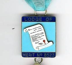 TH455-8523 Lodge of Merit No. 8523 Past Masters Jewel-0