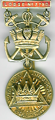 TH659-3790 PZ Jewel Royal Navy Anti-Aircraft Royal Arch Chapter No. 3790-0