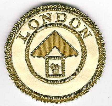 London Grand Rank Dress Apron Badge.-0