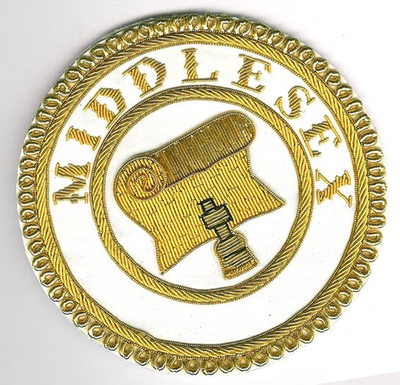 Middlesex Brand New Provincial Grand Registrar Apron Badge-0