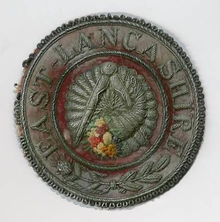 Victorian East Lancashire Provincial Grand Steward's Apron Badge-0