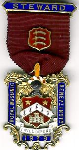 TH281 Royal Masonic Benevolent Institution 1939 Stewards jewel-0