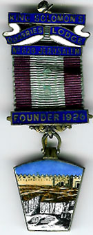 TH716-0828 Founder's Jewel King Solomons Quarries Mark Lodge No. 828-0