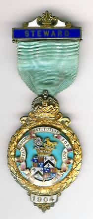 TH276 Royal Masonic Institution for Boys 1904 Stewards jewel.-0