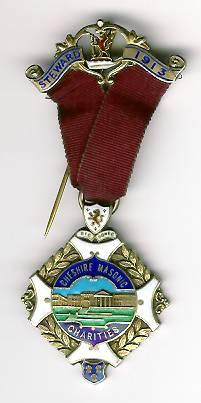 TH331 1913 Cheshire Masonic Charities Stewards jewel. -0