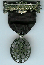 The Church Lads Brigade Long Service medal in hallmarked silver.-0