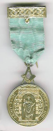 TH228 The 50th Anniversary Breast Jewel for St.Bede's Lodge No. 1119 Jarrow.-0
