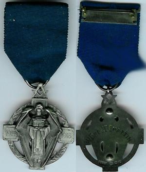 TH231a-1706 Scarce Masonic Million Memorial Fund jewel Lodge No. 1706.-0