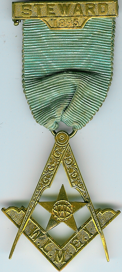 TH304 1895 West Lancashire Masonic Educational Institution Steward's jewel-0