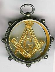 TH72a The large Birmingham Symbolic watchcase jewel in 9ct. gold. -0