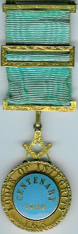 TH550 Lodge of Integrity No. 163 Pre-Regulation Centenery jewel -0