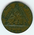 TH180 (02) 1790 Sketchley Masonic Halfpenny Token -0