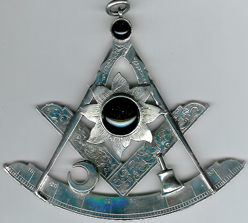 TH24 Scottish-Irish huge silver very early Victorian Past Master's jewel circa 1840.-0