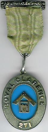 TH453-0271 Royal Clarence Lodge No. 271 Victorian Past Masters jewel-0