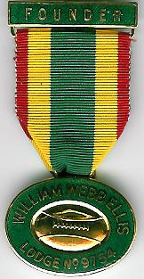 TH455-9754 William Webb Ellis Lodge No.9754 Founders jewel-0