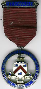 TH281 Royal Masonic Benevolent Institution 1935 Stewards jewel. -0